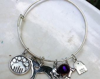 Barn Hunt Bracelet, Dog Charm Bracelet, Adjustable Bangle Bracelet, Bangle Charm Bracelet, Adjustable Bangle, Expandable Bracelet, Rat, Paw