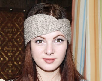 Twist Turban Headband, Knit Headband, Twisted Headband, Turban Headband, Turban Twist Band, Winter Ear Warmer, Ear-warmer Headband