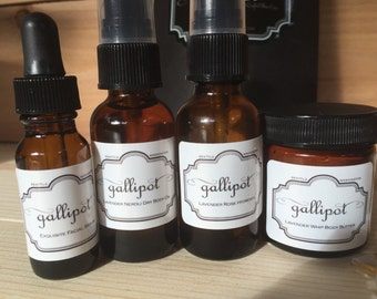 Sleek gift set includes a sample of four of our favorite Gallipot Produces for Mother's Day
