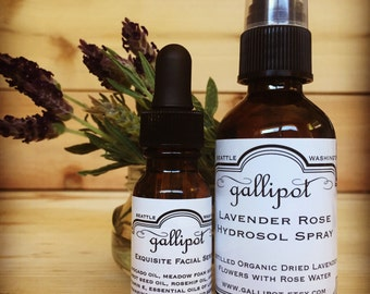 Lavender Rose Hydrosol, Exquisite Facial Serum Combo