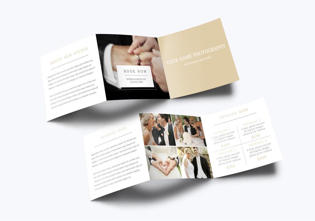 Fotografie Trifold Broschüre Vorlage 001 für Photoshop 5.5 x | Etsy