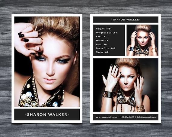 model comp card template for photoshop 001 5 5 x. Black Bedroom Furniture Sets. Home Design Ideas