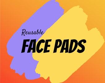 Reusable Face Pads, 3 Pack, Cotton Face Pads, Eco-Friendly, Reusable, Face, Makeup Remover, Clean Face, Cotton Pad, Face Pad, Face Wipes,