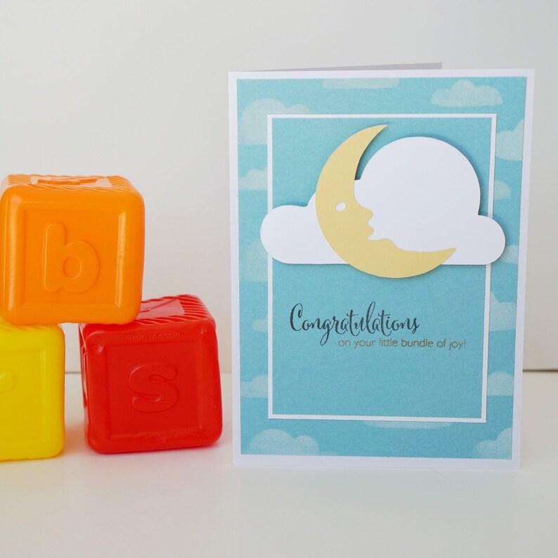 Baby Congratulations Bundle Of Joy Handmade Card Baby image 0