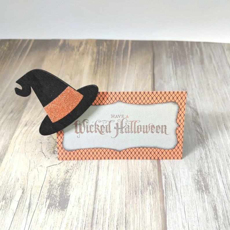 Halloween Tags Treat Bag Tag Halloween Handmade Tag Wicked image 0