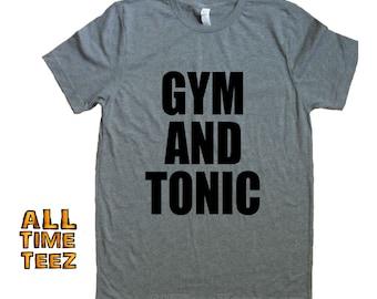 449a537cc Work Out T shirt. 16+ Colors Workout shirt Funny. GYM and TONIC. Cute  Workout Tank. Gym Shirts Men. Gym Shirts Women. Ships from USA