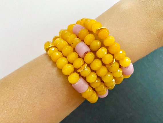 The Mateo stretchie stacker bracelet