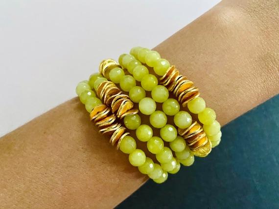The Kiwi stretchie stacker bracelet