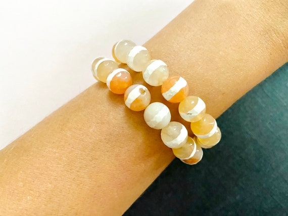 The Mod Stripe stretchie stacker bracelet