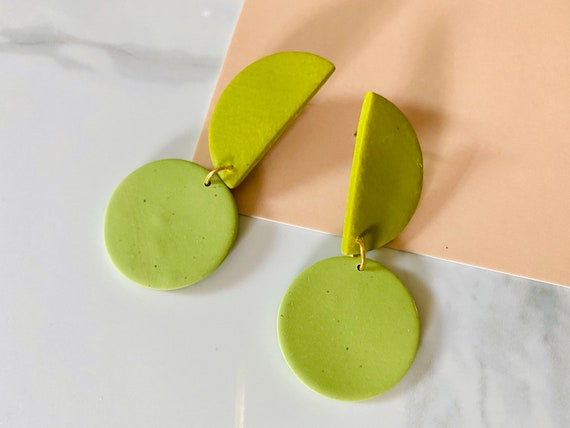 Bianca Clay Danglers - Avocado & Matcha Green