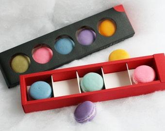 Macaron Soap Gift Box, Macaron Soap, Handmade Soap,  french macarons, black macaron box