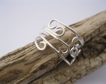 Sunset Sterling Silver Scroll Ring