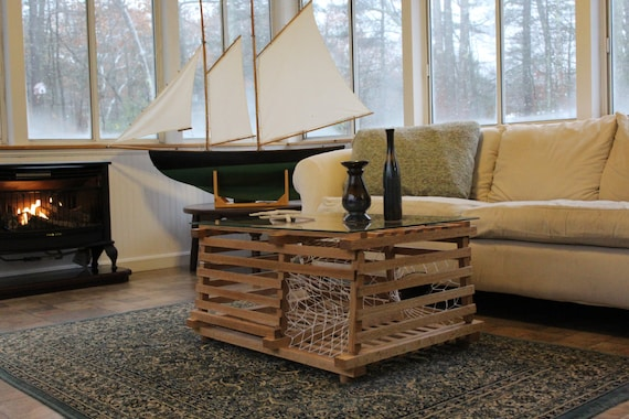 Incredible Maine Wooden Lobster Trap Finished Coffee Table Andrewgaddart Wooden Chair Designs For Living Room Andrewgaddartcom