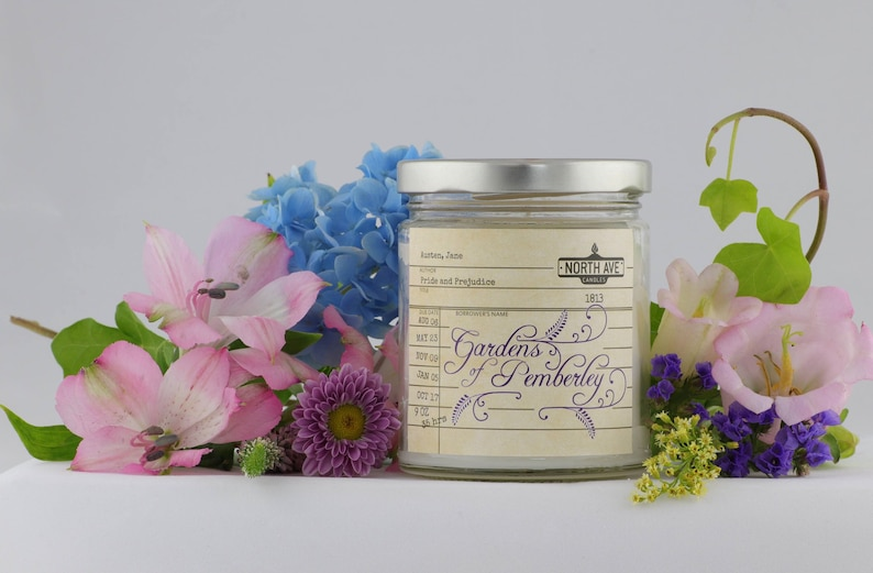 Pride & Prejudice Candle /  Pemberley Candle / Book Scented image 1