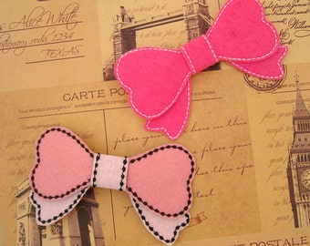 ITH Heart Bow In the Hoop Embroidery Design Hair Tutorial Instant Download In The Hoop 3D Felt Embroidery Machine