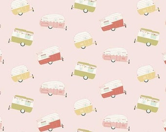Joy in the Journey - Campers on Pink - Riley Blake