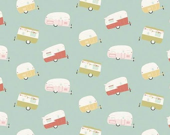 Joy in the Journey - Campers on Aqua - Riley Blake