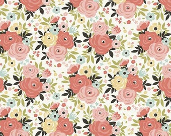 Joy in the Journey - Floral on Cream - Riley Blake
