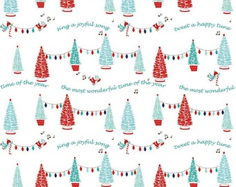 Pixie Noel - Christmas Holiday Trees Fabric