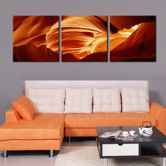 Antelope Canyon Ready To Hang 3 Piece Framed Picturemounted Etsy