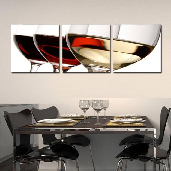 Wineglass Ready To Hang 3 Piece Framedmounted Waterproof Pvc Etsy