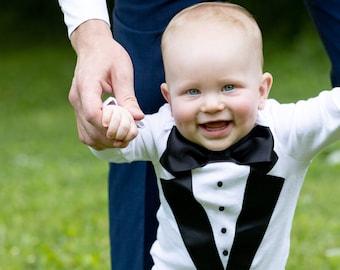 5d080e91628a Baby Tuxedo Onesie® - Gerber brand Onesie® - Baby boy Tuxedo - Take home  outfit - wedding suit - Baby Ringbearer outfit - wedding outfit boy