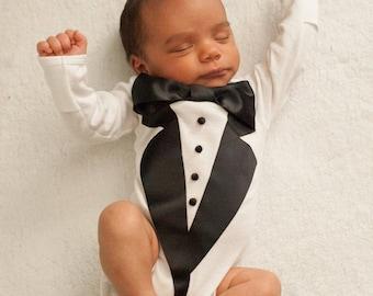 Baby Wedding outfit - Baby Tuxedo Shirt - Baby boy Tuxedo - Baby Tuxedo -  Photography prop - baby tuxedo shirt bb8ac34cf
