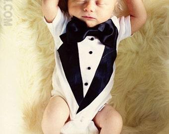 b53e683d0107 Baby tuxedo onesie