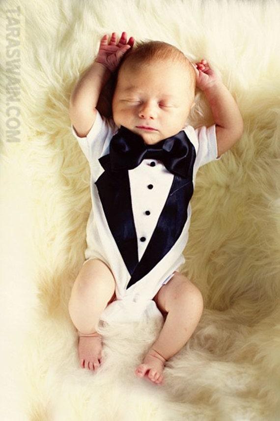 Baby Tuxedo Baby Ring Bearer Suit Newborn Tuxedo Newborn Etsy