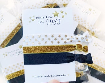 50th Birthday Party Favors For Women Supplies Decor Hair Tie