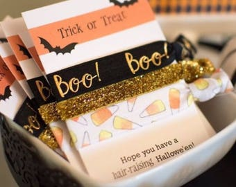 Halloween Party Favors, Halloween Party Supplies, Girls Halloween Party Decorations, Class Favors for Halloween, Hair Tie Favors for Girls
