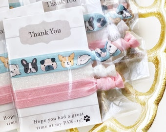 Dog Party Favors Puppy Birthday Supplies Goodie Bag Stuffers Decorations Baby Shower Hair Ties