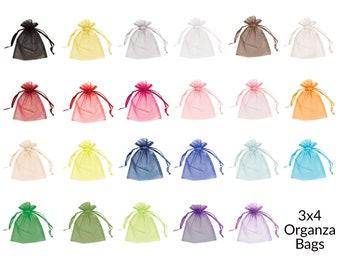 Organza Bags 3x4, Organza Favor Bags, Organza Gift Bags, Small Organza Bags, Jewelry Pouch, Drawstring Bags, Organza Wedding Favor Bags