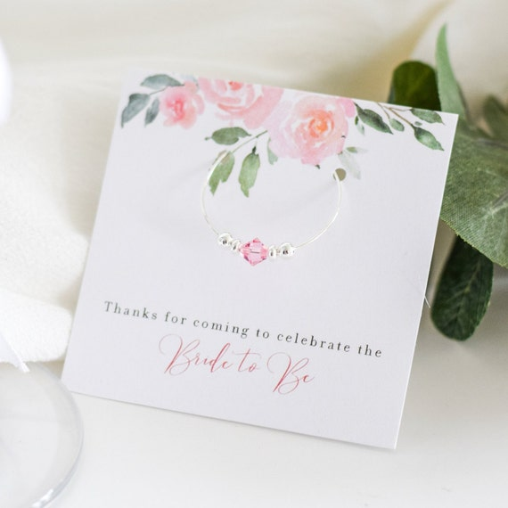 With Open Heart Charm Hen Party 88 Wedding Favour 10 Pink Wine charms