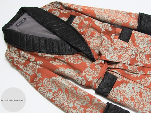 Mens Dressing Gown Warm Paisley Cotton English Style Classic   Etsy