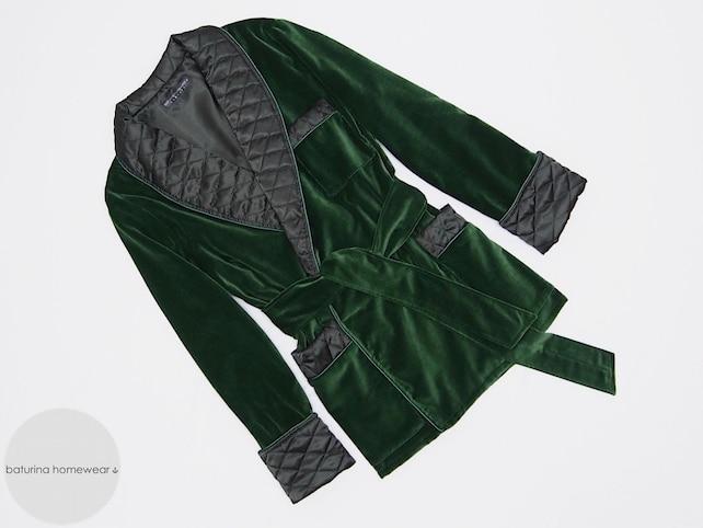Green Velvet Men\'s Smoking Jacket Heavy Warm Quilted Silk   Etsy