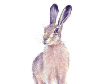 woodland rabbit art, woodland bunny print, kids woodland art, nursery rabbit print, rabbit print art, rabbit prints, print nursery rabbit