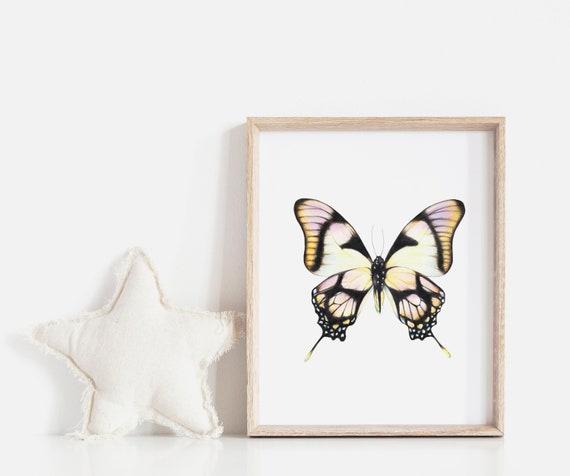 Nursery Wall Decor. Butterfly Nursery Wall Art Prints. Nursery  4c59489c4