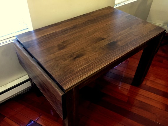 Four Post Farm Table With Drop Leaves: Solid Black Walnut | Etsy