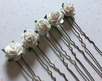10 x Yellow Daisy Hair Pins Clips Grips Wedding Prom Ball Bride Bridesmaids