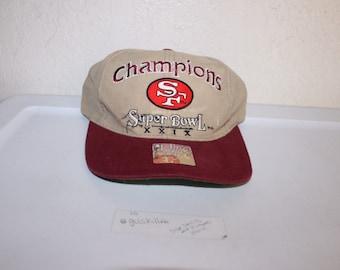 c6c32de2052 Vintage 90 s Super Bowl 29 San Francisco 49ers Snapback by Logo 7