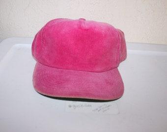 7f228d3a2d2dd Vintage 90 s Blank Pink Custom Corduroy Snapback by Fine Tree