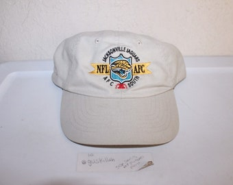 b262b7fc0390e0 Vintage 90's Jacksonville Jaguars Strapback Hat by Zpaz