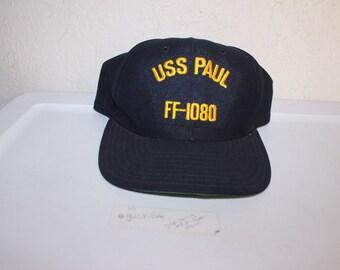 7013873715e Vintage 90 s USS Paul FF-1080 Snapback by New Era