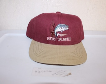 9166c147 Vintage 90's Ducks Unlimited Snapback Hat
