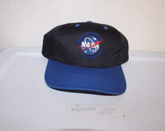 06a6fd1c08db5 Vintage 90 s NASA Johnson Space Center Snapback by Space Trader