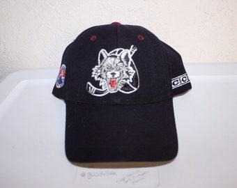 a07e1f148e5 Vintage 90 s Chicago Wolves Strapback Hat by CCM