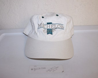 Vintage 90 s Michelob Light Strapback Hat by Anheuser Busch 2ba7e633632c