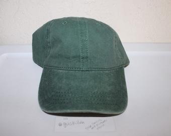5ad0ab8d471 Vintage 90 s Blank Green Custom Strapback Dad Hat by Otto