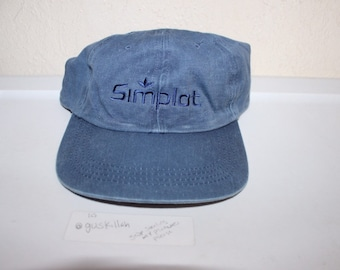 8cc58b02ea6 Vintage 90 s Simplot Strapback Dad Hat by Port Authority